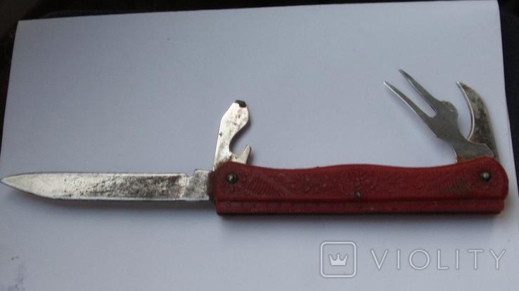 Складной нож СССР с линейкой, фото №3