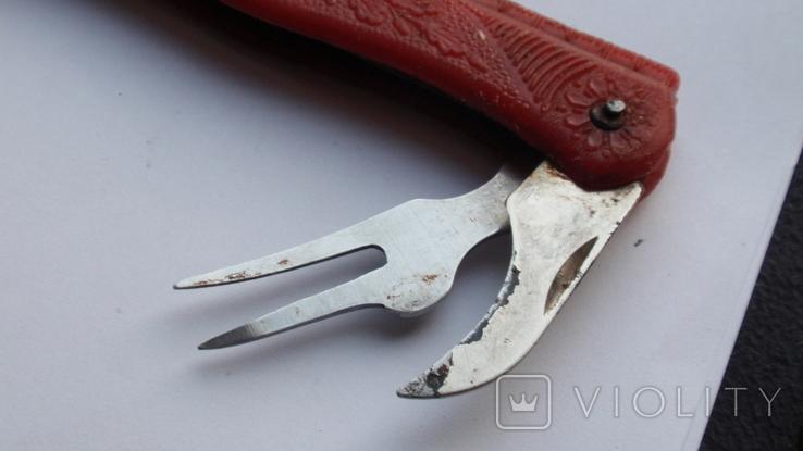 Складной нож СССР с линейкой, фото №8