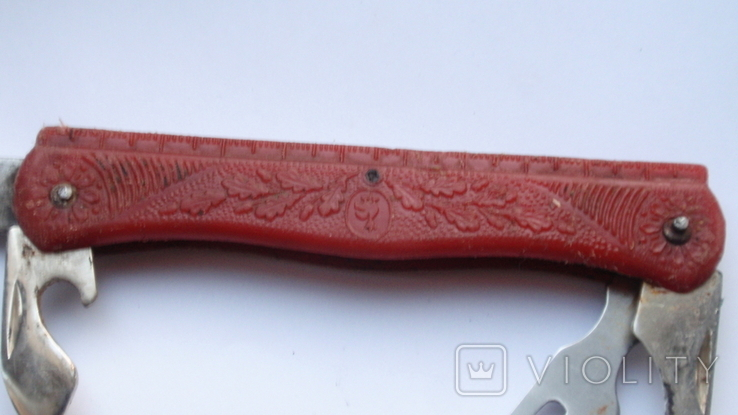 Складной нож СССР с линейкой, фото №9