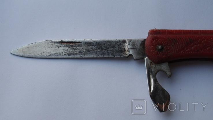 Складной нож СССР с линейкой, фото №11