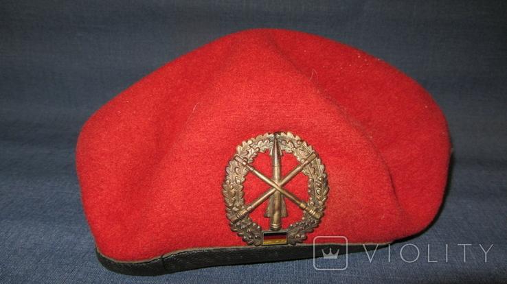 Берет ГДР. Германия. Красный. Ракетные войска., фото №2
