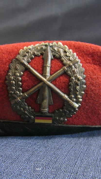 Берет ГДР. Германия. Красный. Ракетные войска., фото №6