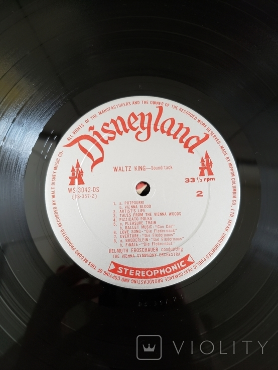 "Disneyland Stereophonic ""Waltz King -soundtrack from Walt Disney's"", фото №6"