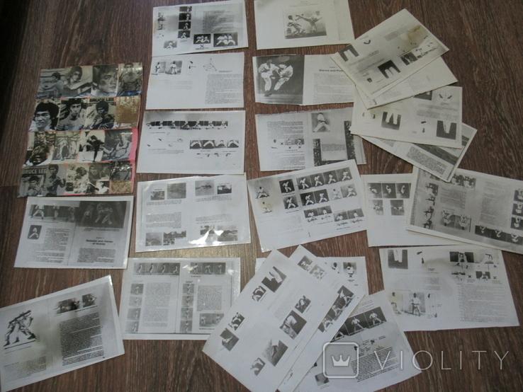 Фоторепродукция Брюс Ли +часть книга по карате, фото №2