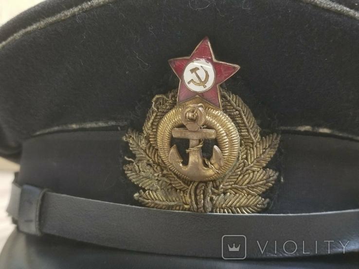 Морская офицерская фуражка 1955года, фото №6