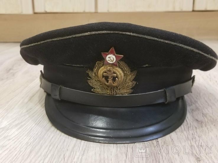 Морская офицерская фуражка 1955года, фото №2