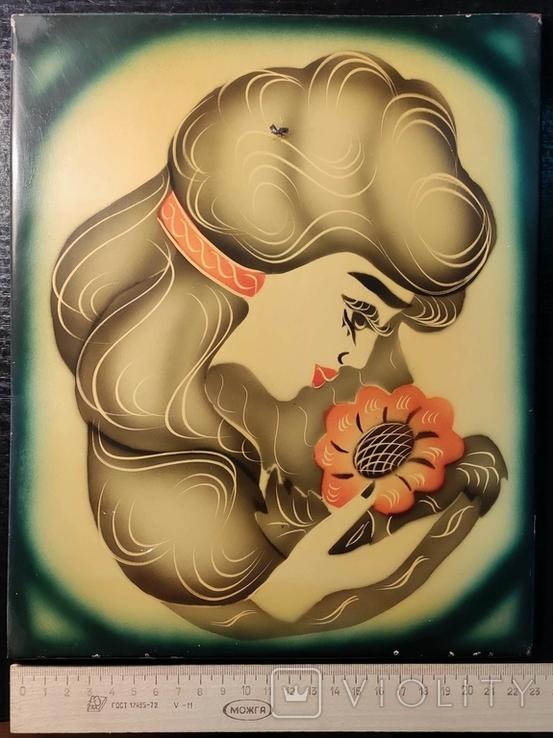 Девушка с цветком, фото №3