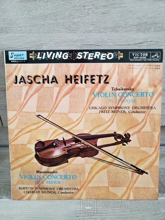 """Vinyl. Classical. """"Jascha Heifetz -Tchaikovsky/Mendelssohn"""", фото №2"""