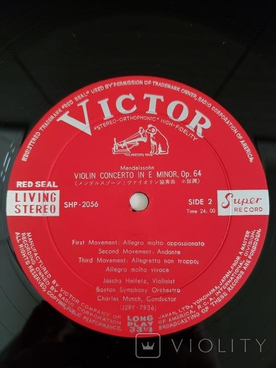"""Vinyl. Classical. """"Jascha Heifetz -Tchaikovsky/Mendelssohn"""", фото №5"""