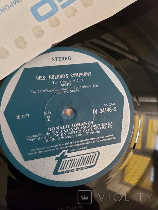 "Vinyl. Classical. ""Charles Ives -Holidays Symphony"", фото №6"