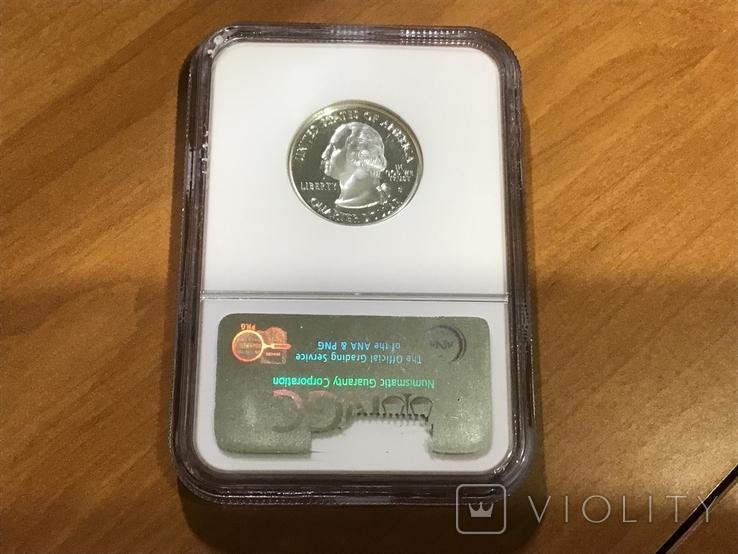 25 центов сша 2002 г. Серебро, фото №3
