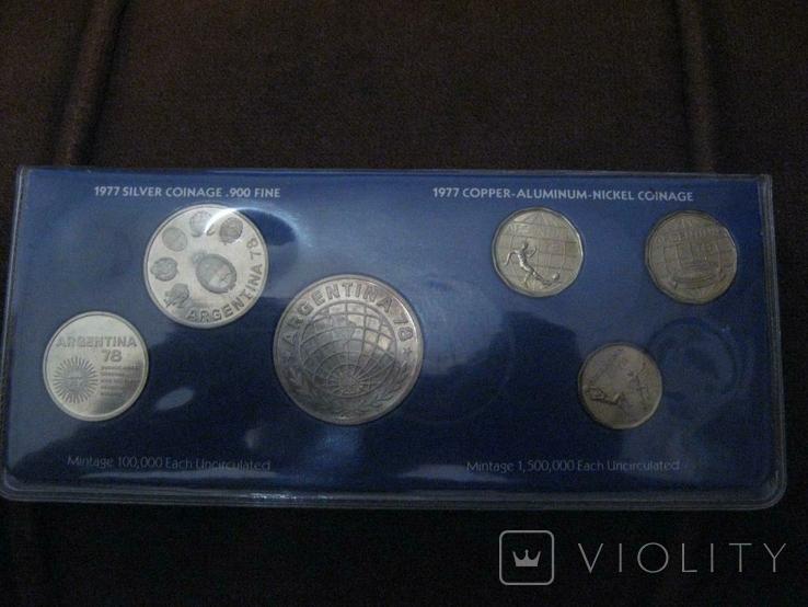 Аргентина 1978 Официальный набор UNC серебро Футбол Буклет, фото №2
