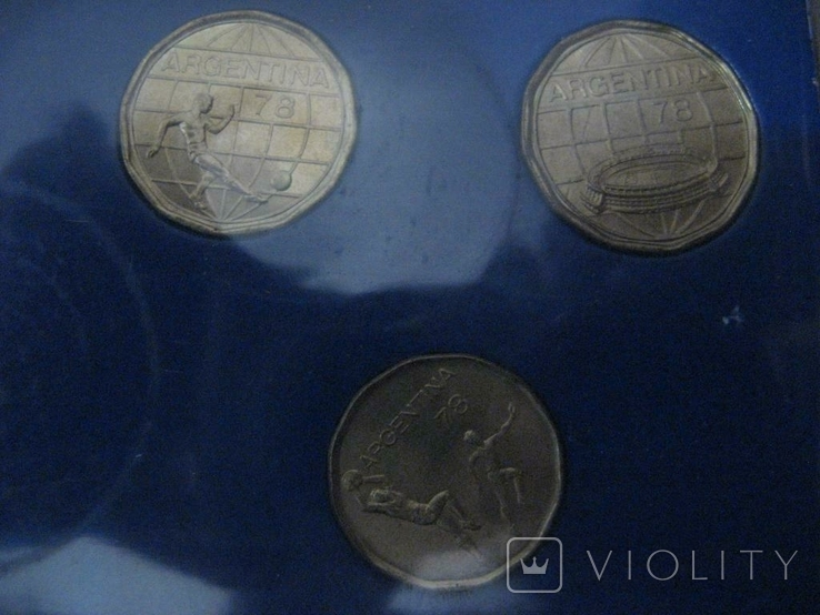 Аргентина 1978 Официальный набор UNC серебро Футбол Буклет, фото №4