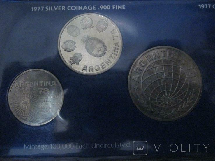 Аргентина 1978 Официальный набор UNC серебро Футбол Буклет, фото №5