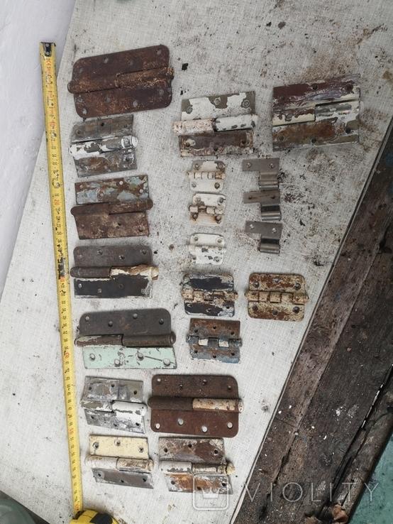 Петли завесы дверные металлические б/у много уборка гаража, фото №6