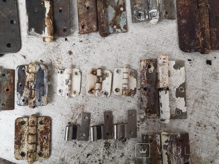 Петли завесы дверные металлические б/у много уборка гаража, фото №8