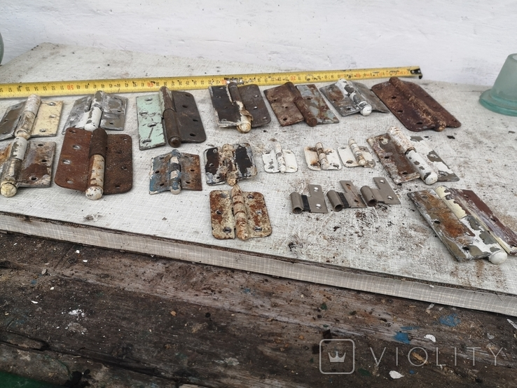Петли завесы дверные металлические б/у много уборка гаража, фото №11