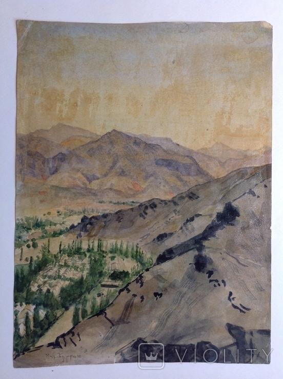 Горный пейзаж. Уч.Курган. А. Широков 30,5х22,5., фото №3