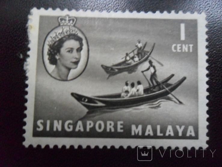 Британские колонии. Сингапур.  марка  МН, фото №2