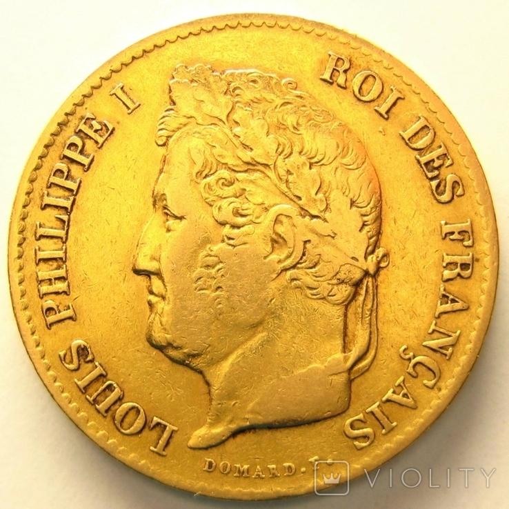 Франция 40 франков 1833 г.