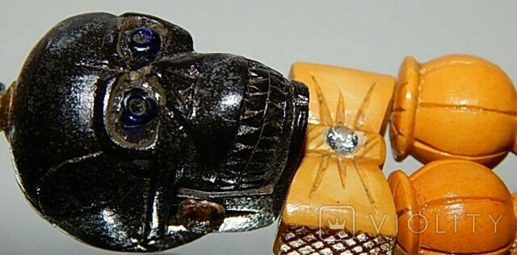Чётки ручной работы /камень в бабочке нат, аквамарин/, фото №8