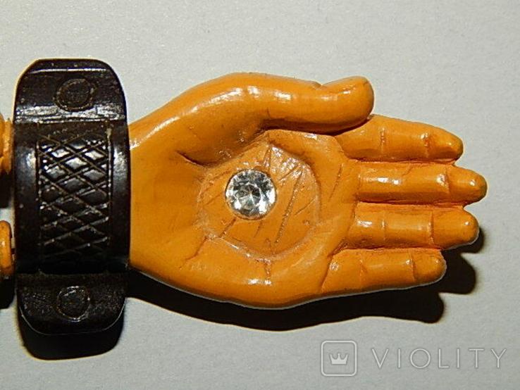 Чётки ручной работы /камень в бабочке нат, аквамарин/, фото №11