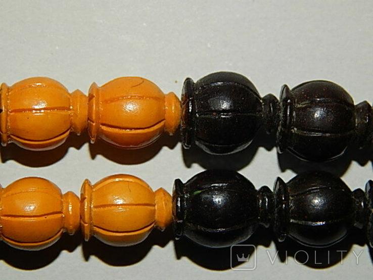 Чётки ручной работы /камень в бабочке нат, аквамарин/, фото №12