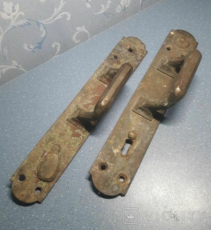 Две старинные дверные ручки, Каменев в Туле, фото №2