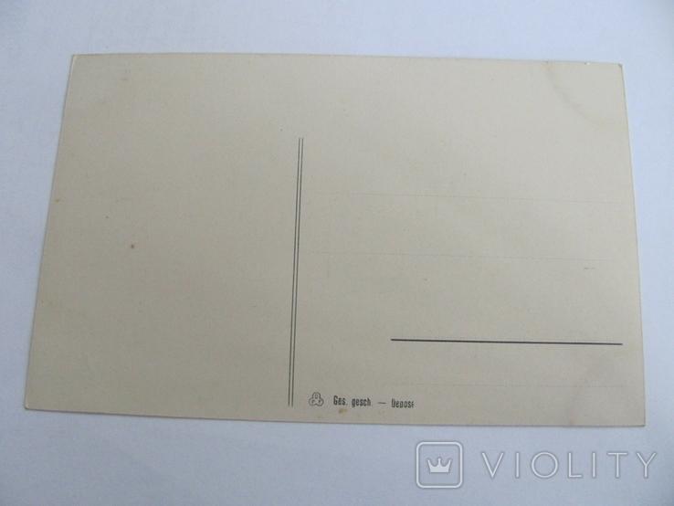 Дореволюциоцонная открытка, печать Германия, Парусник №2, фото №3