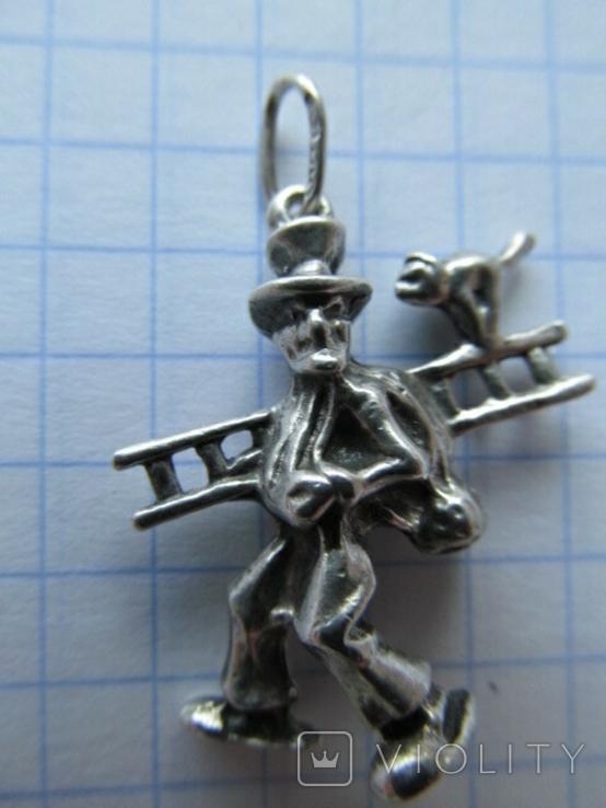 Кулон. Серебро, фото №2