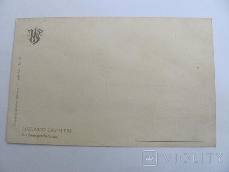 Дореволюционная открытка  Италия Корабли, фото №3
