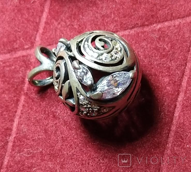 Гарнитур, серебро 925, фото №4