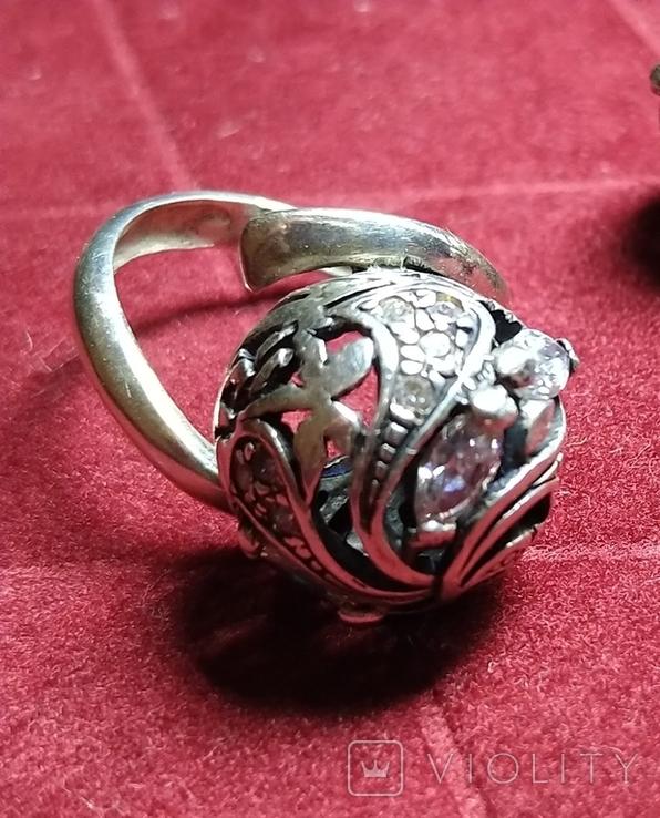 Гарнитур, серебро 925, фото №7