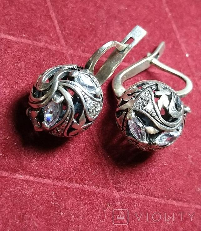 Гарнитур, серебро 925, фото №8