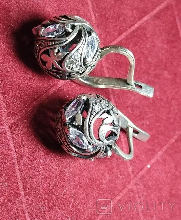 Гарнитур, серебро 925, фото №9