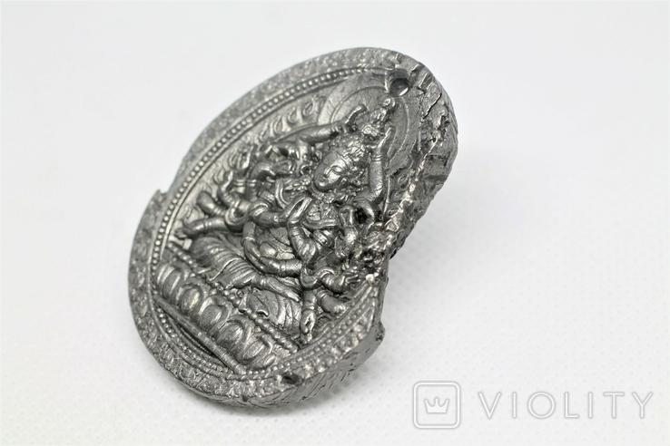 """Кулон """"Тисячарука Гуаньїнь"""" з метеорита Aletai, 34 грам, із сертифікатом автентичності, фото №5"""