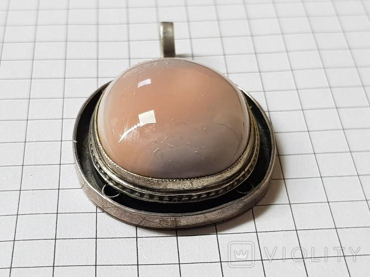 Серебряные кольцо и кулон с сердоликом Ручная работа, фото №4
