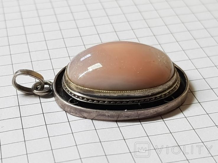 Серебряные кольцо и кулон с сердоликом Ручная работа, фото №5