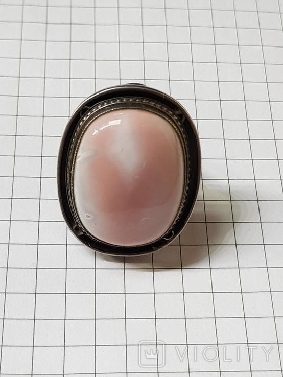 Серебряные кольцо и кулон с сердоликом Ручная работа, фото №7