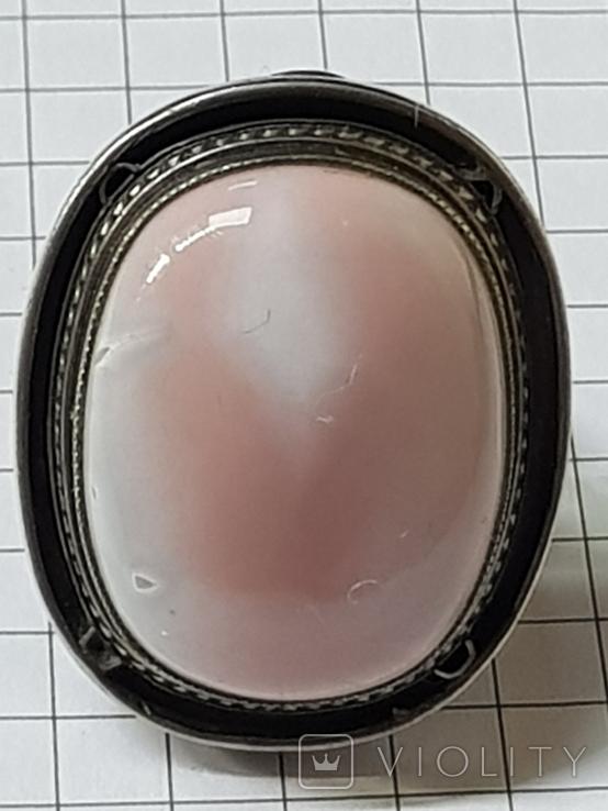 Серебряные кольцо и кулон с сердоликом Ручная работа, фото №8