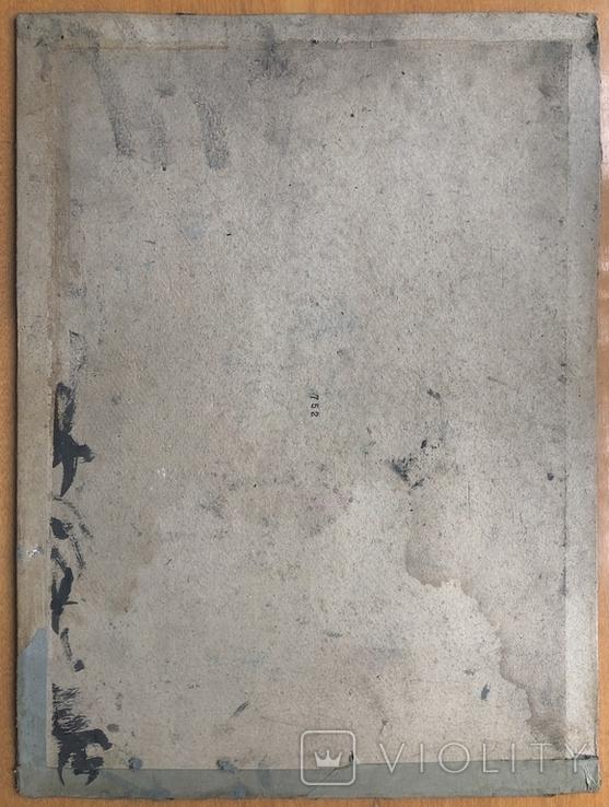Антон Шепа 35х40, картон, масло + книга про автора и его работы, фото №3
