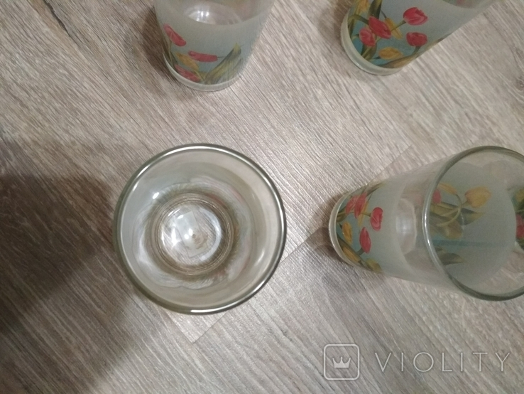 Стаканы набор 6 шт., без повреждений, фото №4