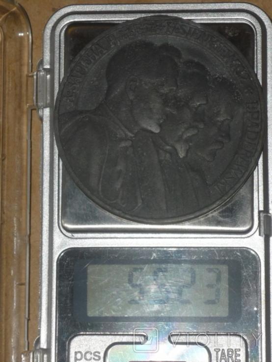 "Настольная медаль "" Polonia devastata 1915 "".(""Польша разорённая"")., фото №5"