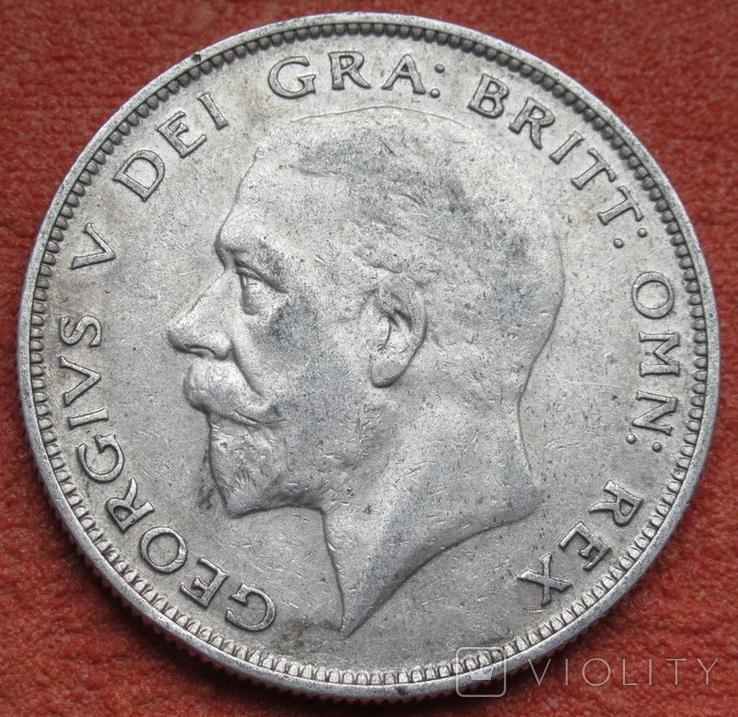 1/2 кроны 1929 г. Великобритания, серебро, фото №3