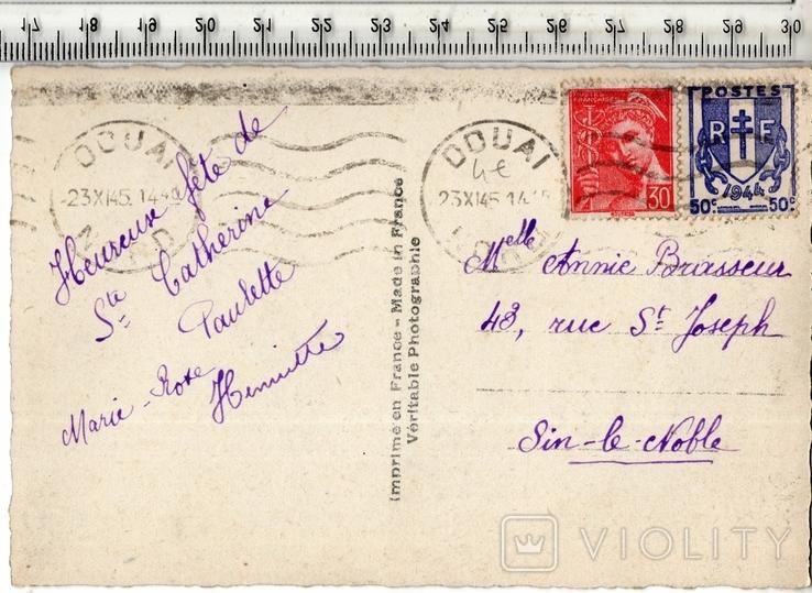Старинная открытка. 1945 год. Разное.(3), фото №3