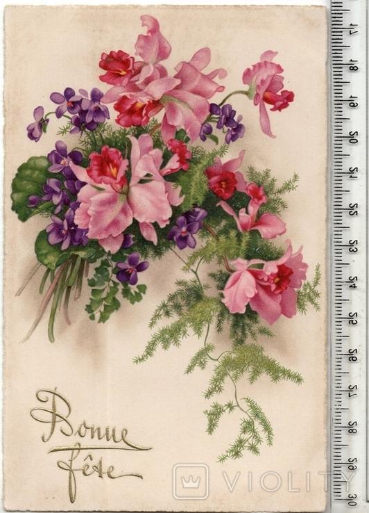 Старинная открытка. До 1945 года. Разное., фото №2