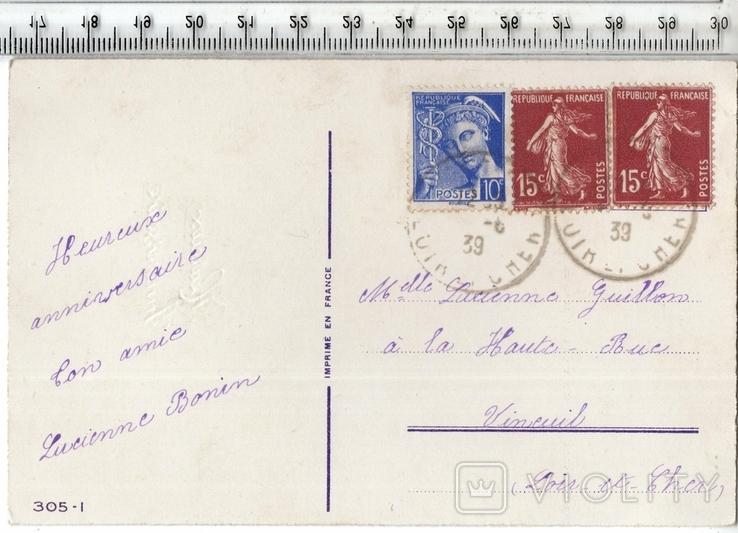 Старинная открытка. 1939 год. Разное., фото №3