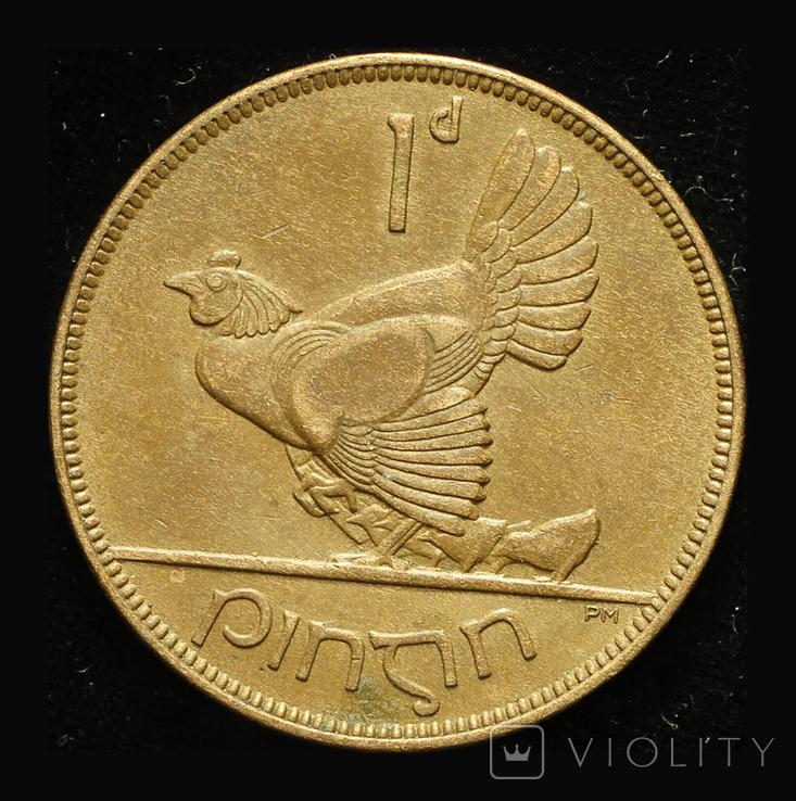Ирландия 1 пенни 1928, фото №3