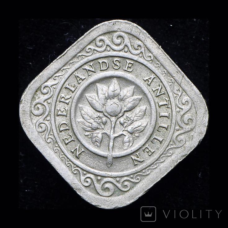 Нидерландские Антиллы 5 центов 1965, фото №2