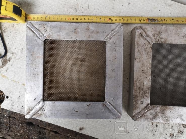 Решетки металлические алюминиевые сетка для вытяжки 2 шт, фото №3